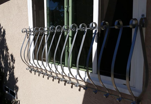 Wrought Iron Security Window Bars San Diego Ca Fire