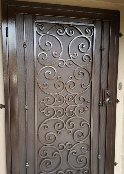 Ba ramirez iron works gallery ornamental wrought iron for Door design steel