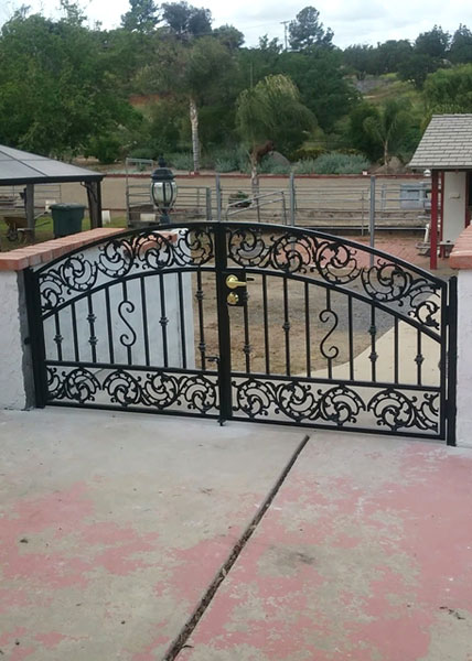 Steel garden gate in Alpine, Ca