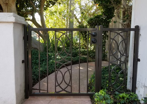 Custom iron gate in La Jolla, Ca