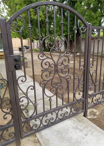Custom-Designed Steel Gate in San Marcos, CA