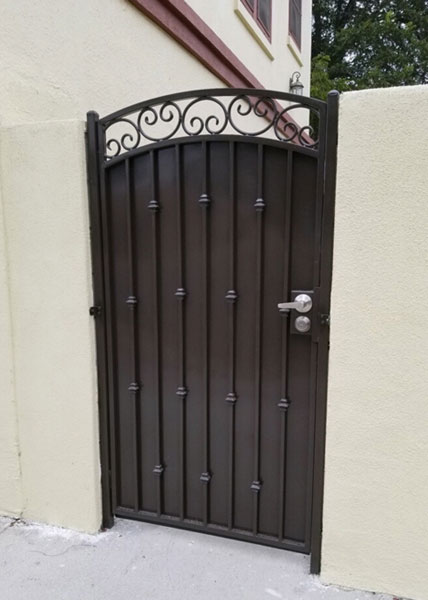 Custom-Built Steel Gate in San Diego, CA
