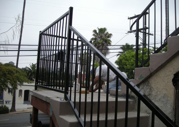 Ba ramirez iron works gallery wrought stair hand