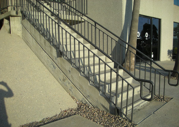 Commercial interior guardrails artistic ornamental iron