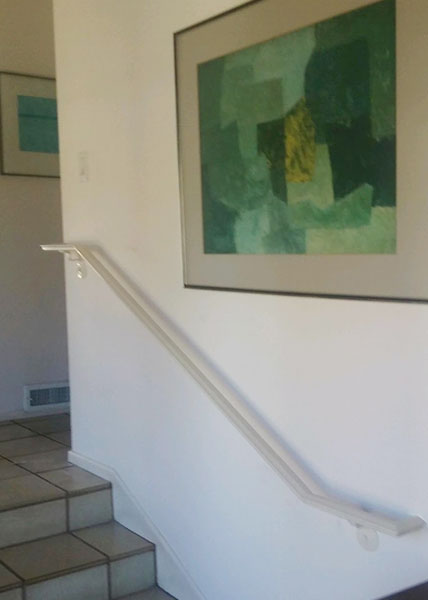 R39 B.A. Ramirez U0026 Sons Fabricated And Installed This Interior Wall Mounted  Handrail For A Home In La Jolla, CA. The Handrail Was Made Using An  Ornamental ...