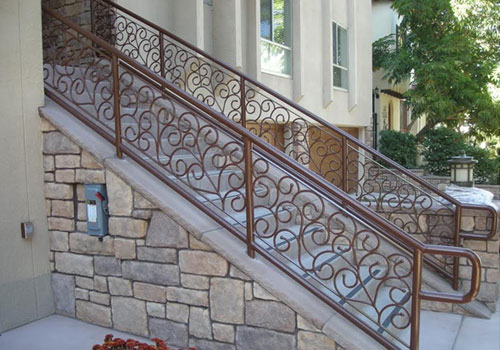 Staircase railings decorative wrought iron san diego ca Decorative railings